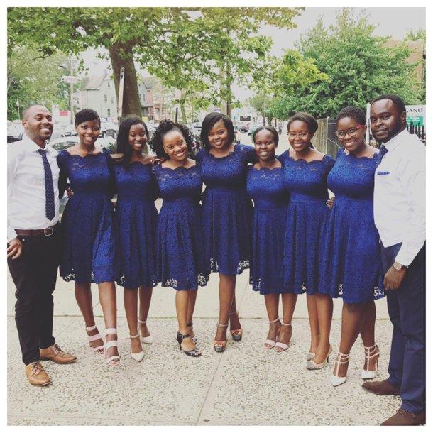 dress lace bridesmaid dress off the shoulder dress blue dress