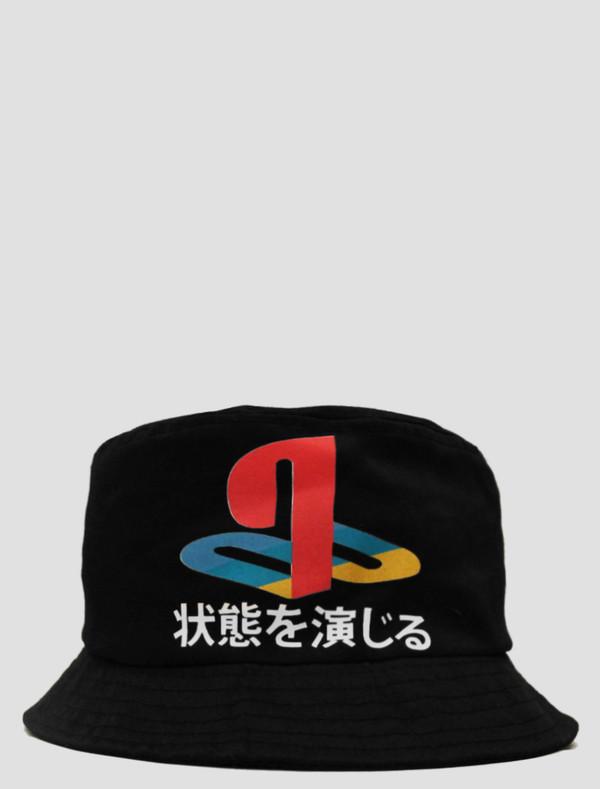 hat playstation japenese bucket hat japenesewriting headwear ps3 ps style dxxp dxpe