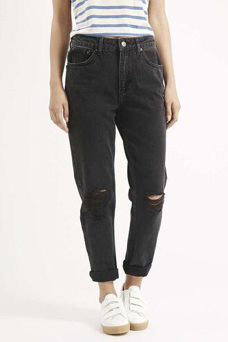 jeans black distressed denim vintage asthetic cute