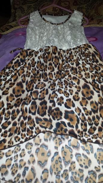 dress leopard print dress