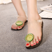 shoes,clear,black,lime,green fruit,jellies