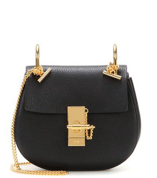 Chloe mini bag shoulder bag leather black