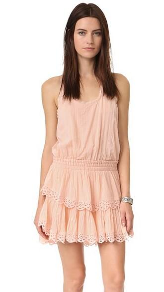 dress mini dress mini ruffle pink