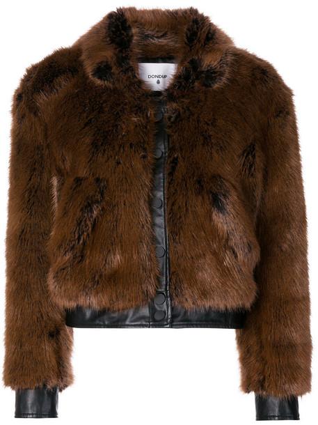 DONDUP jacket fur jacket fur women brown