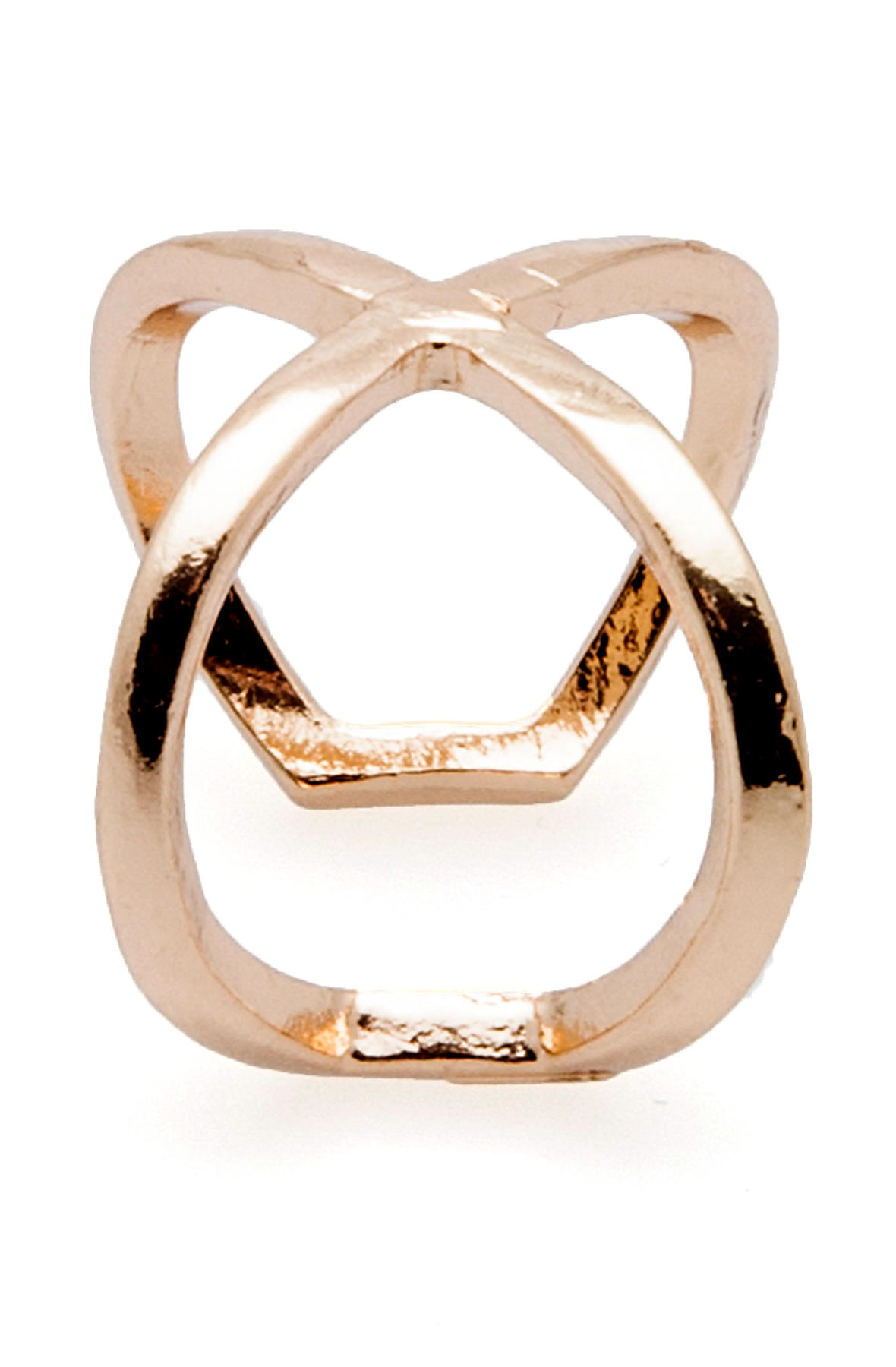 Duartsnjem Ring X in Gold