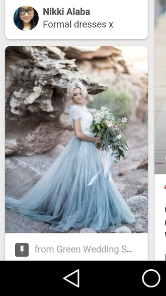 skirt ombre tulle skirt gown prom dress blue dress