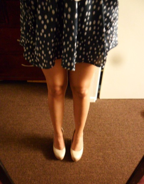 skirt vintage polka dots