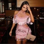 dress,balmain tassel dress,balmain fringe dress,pink,pink dress,balmain dresses,balmain,hm balmain dress,balmaindress,balmain replica,tassels dress,tassel,lace dress,studded,studded dres,pink prom dress,style,style me,outfit,outfit idea,tumblr outfit,cute outfits,prom dresses 2017,prom dress 2017,sexy dress,cute dress,diamond cut out dress,cut-out dress