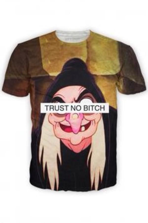 t-shirt evil disney characters