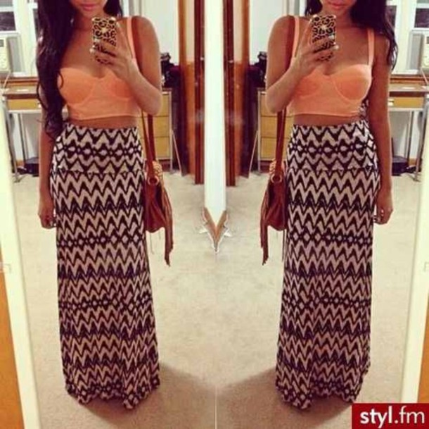 Skirt: maxi skirt, hobo, summer outfits, festival - Wheretoget