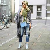 shoes,tumblr,boots,ankle boots,blue boots,denim,jeans,blue jeans,ripped jeans,scarf,blanket scarf,beanie,sunglasses,bag,blue bag
