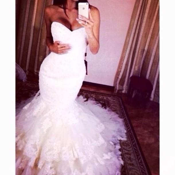 dress wedding dress mermaid wedding dress bodycon dress