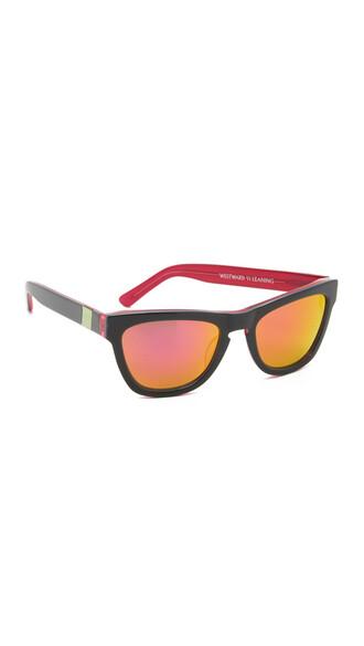 sunglasses black pink