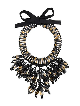 chunky necklace women necklace black jewels