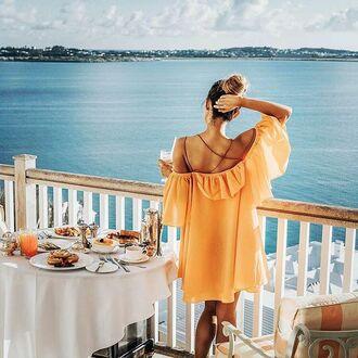 dress orange storets boho dress