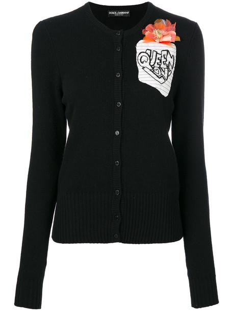 Dolce & Gabbana cardigan cardigan women love cotton black wool sweater