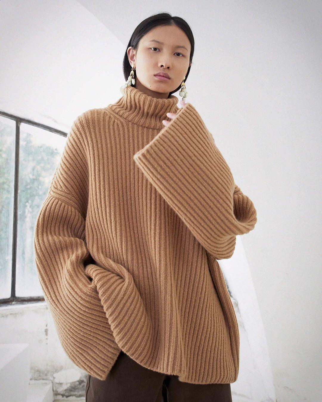 RAW - Chunky knit turtleneck sweater