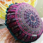 home accessory,multimatecollection,round pillow,round mandala,pillow,bedroom pillows,hippie wall hanging,large mandala pillow cases,indian pillow,indian pillow cover