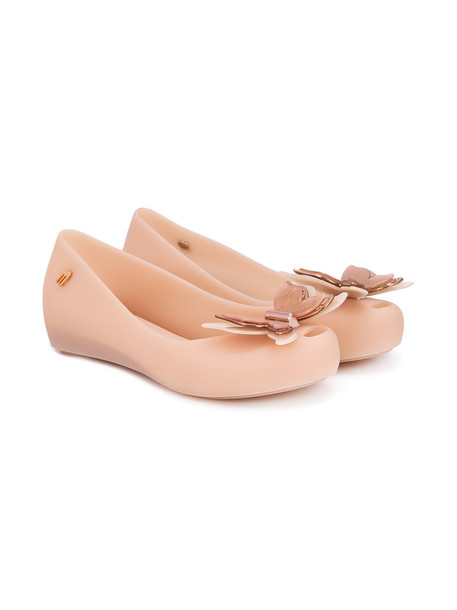 MINI MELISSA butterfly plastic nude shoes