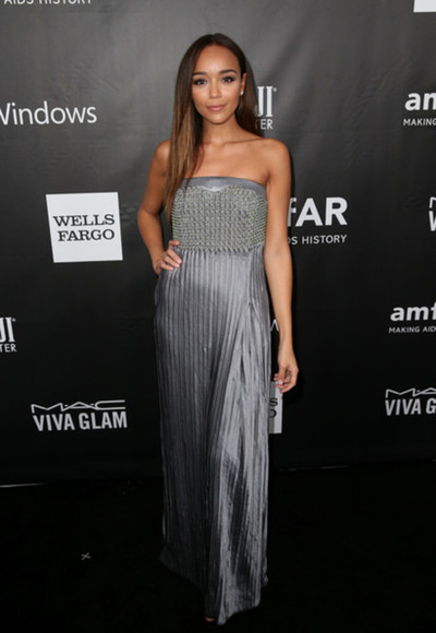 maxi dress dress ashley madekwe strepless