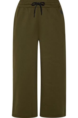 culottes green army green pants