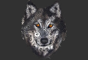 shirt,animals,wild,wildlife,wood,wolf,abstract,art,design,style,illustration,dbh,swirly