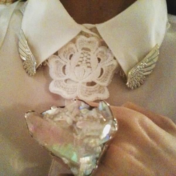 jewels collar tips wings jewelry collar peter pan collar kiki kannibal