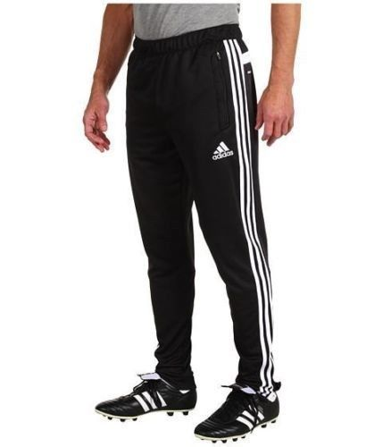 Soccer Pants Men Adidas Tiro 13 Training Climacool Black White Free Shipping