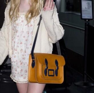 bag purse yellow nice back to school satchel bag leather bag shoulder bag