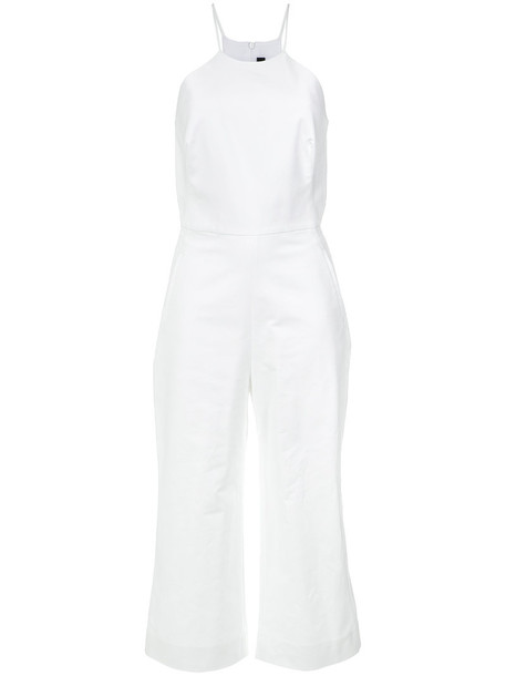 Andrea Marques jumpsuit women spandex white cotton