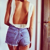 top,white top,summer top,fashion,style,outfit,crop tops,shorts,summer shorts,beach,beach short,beach top shirts bikini white cotton holes,todays outfit