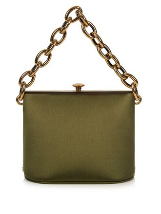 bag shoulder bag silk satin green