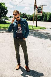 stay classic,jacket,shirt,jeans,shoes,belt,jewels,sunglasses,menswear,mens shoes,mens denim jacket,mens straight jeans,mens derby shoes
