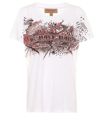 t-shirt shirt cotton t-shirt cotton print white top