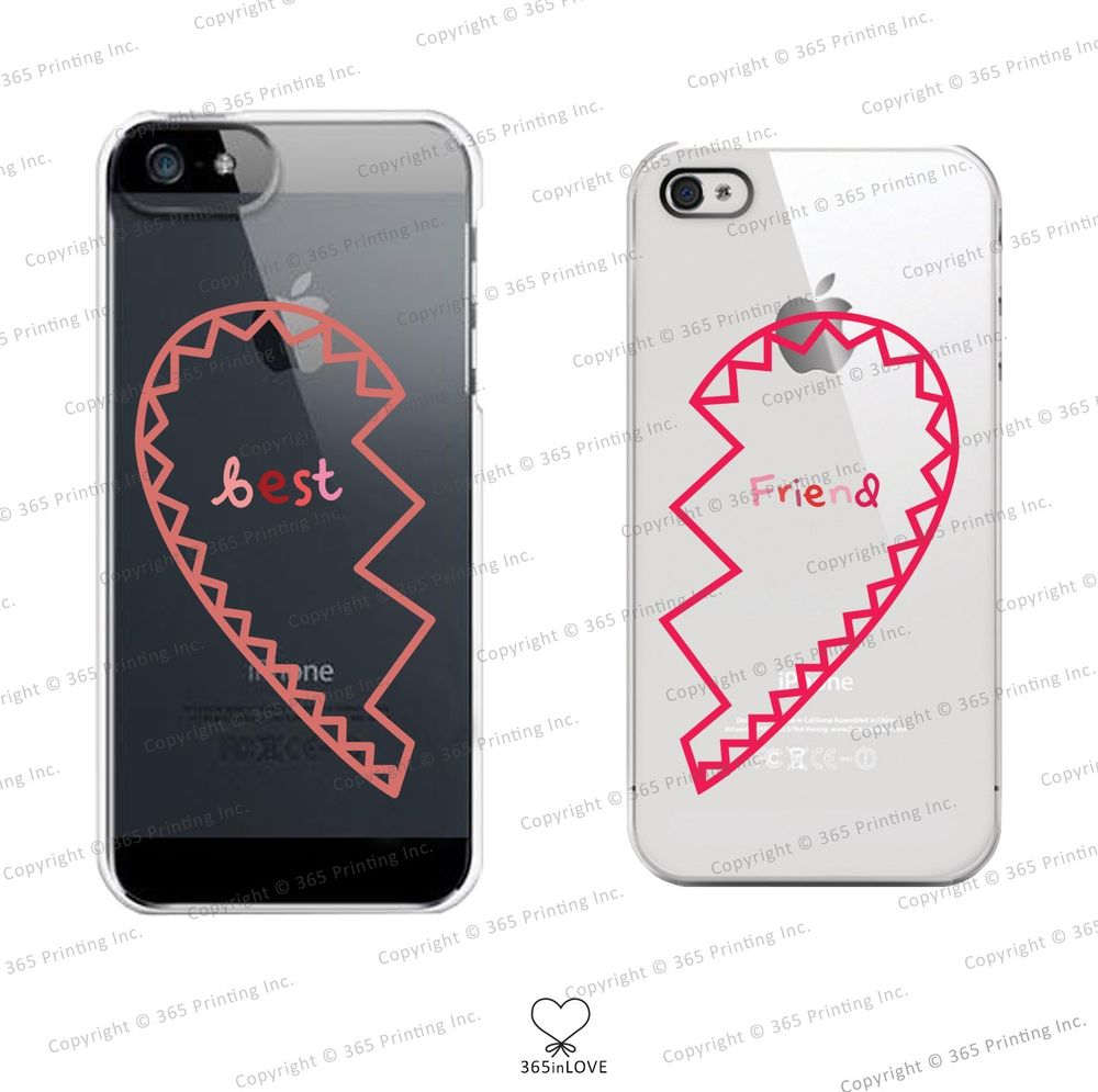 Best Friends Clear Matching Phone Cases for BFF iPhone 4 4S 5 5c Galaxy S3 S4 | eBay
