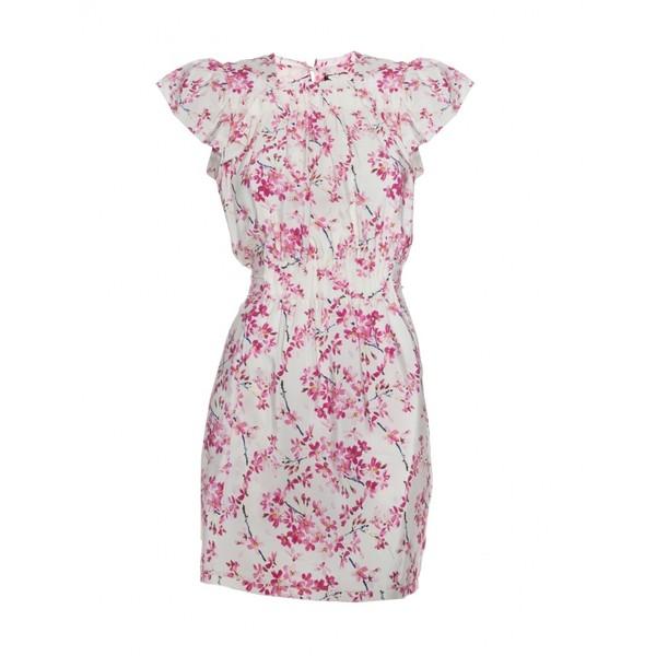 Balenciaga cherry blossom silk dress