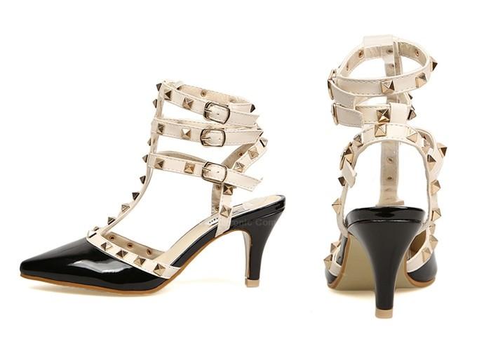 Valentino rockstud gladiator  inspired heels