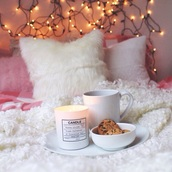 warm,cream,pillow,candle,cozy,home decor,bedding,lamp,fluffy,holiday season,holiday home decor