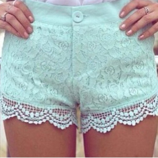 shorts cute mint shorts