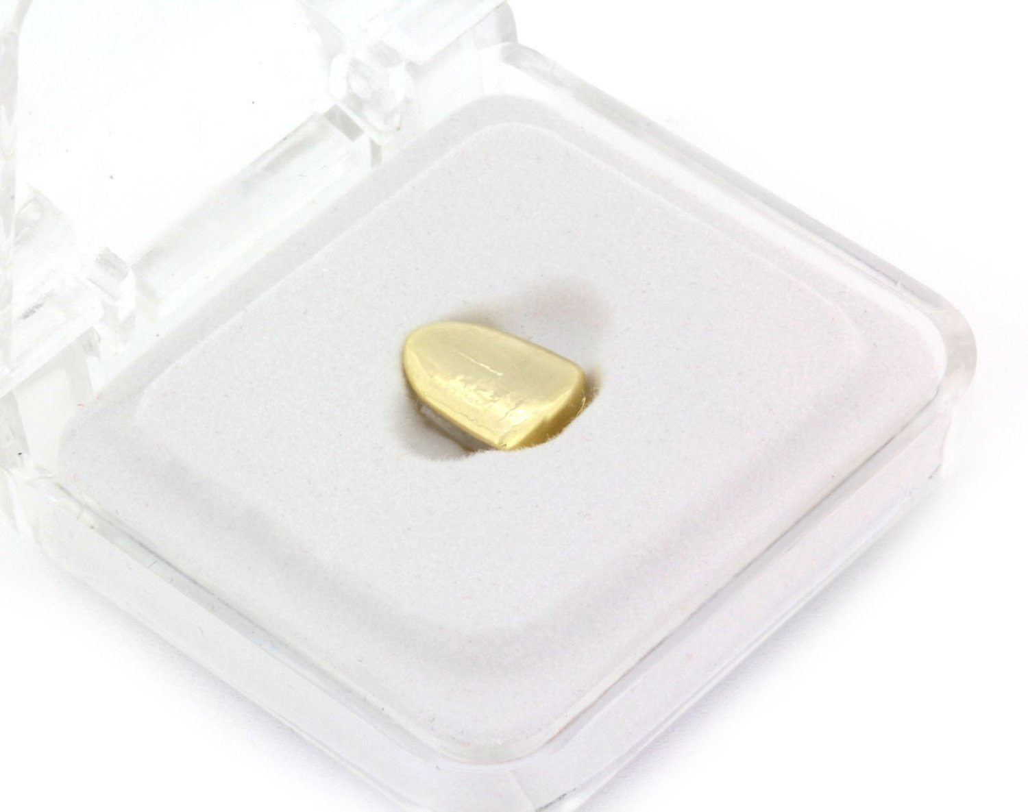 Amazon.com: hip hop 14k gold plated removeable grill (single tooth cap) solid: jewelry