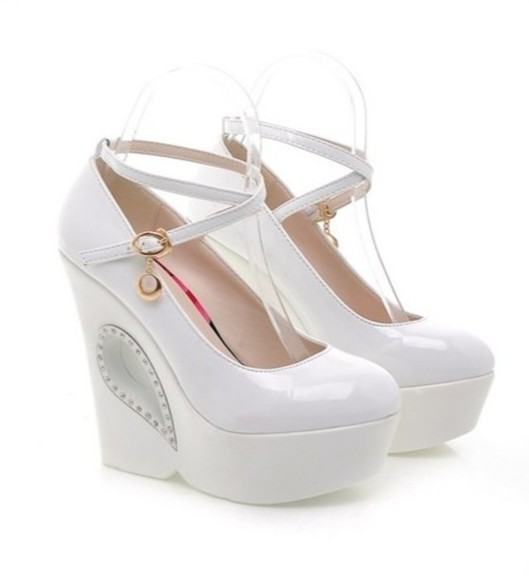 shoes wedges white heels platform playforms