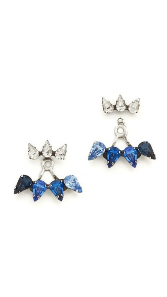 earrings blue jewels
