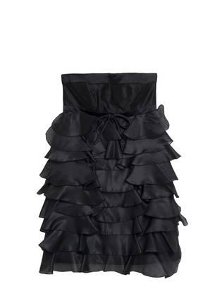 Robe bustier à volants noir