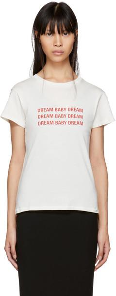 6397 t-shirt shirt t-shirt mini baby white off-white top