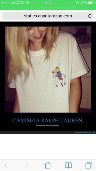 t-shirt the simpsons ralph ralph lauren funny the simpson white t-shirt