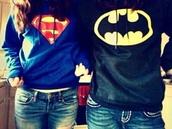 sweater,batman,superman,couple,shirt