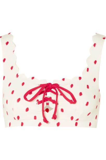 Marysia bikini bikini top scalloped white swimwear