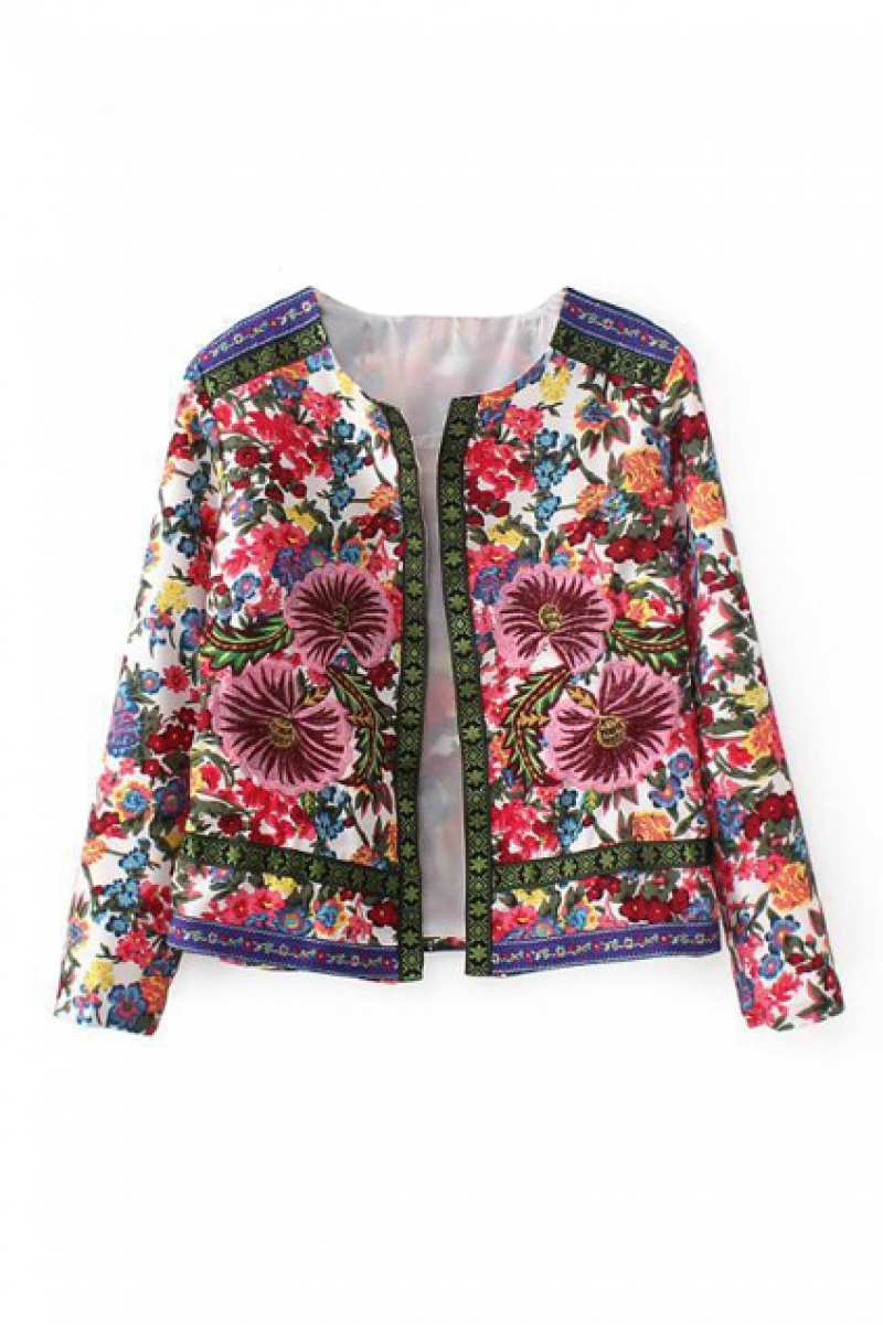 abaday Floral Emrnoidered Jacket