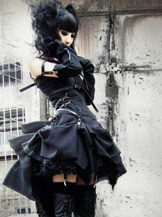 dress goth gothic lolita gothic lolita dresses black black dress visual kei punk goth dark