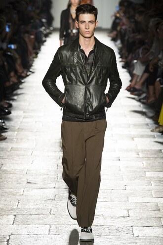 jacket bottega veneta pants menswear mens jacket mens shoes milan fashion week 2016 runway